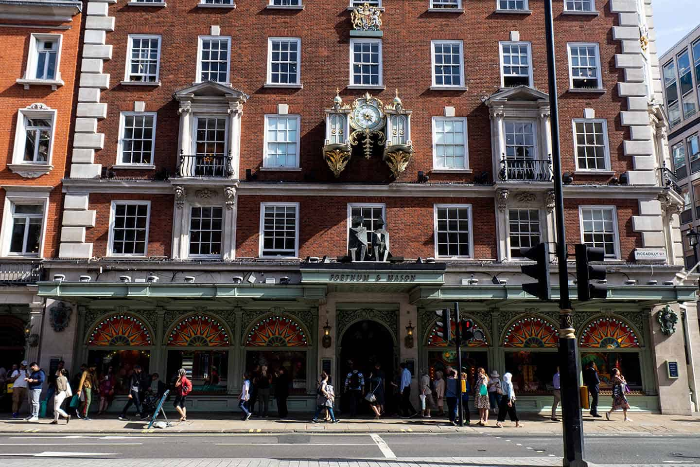 Image of the famous Fortnum & Mason department store in London