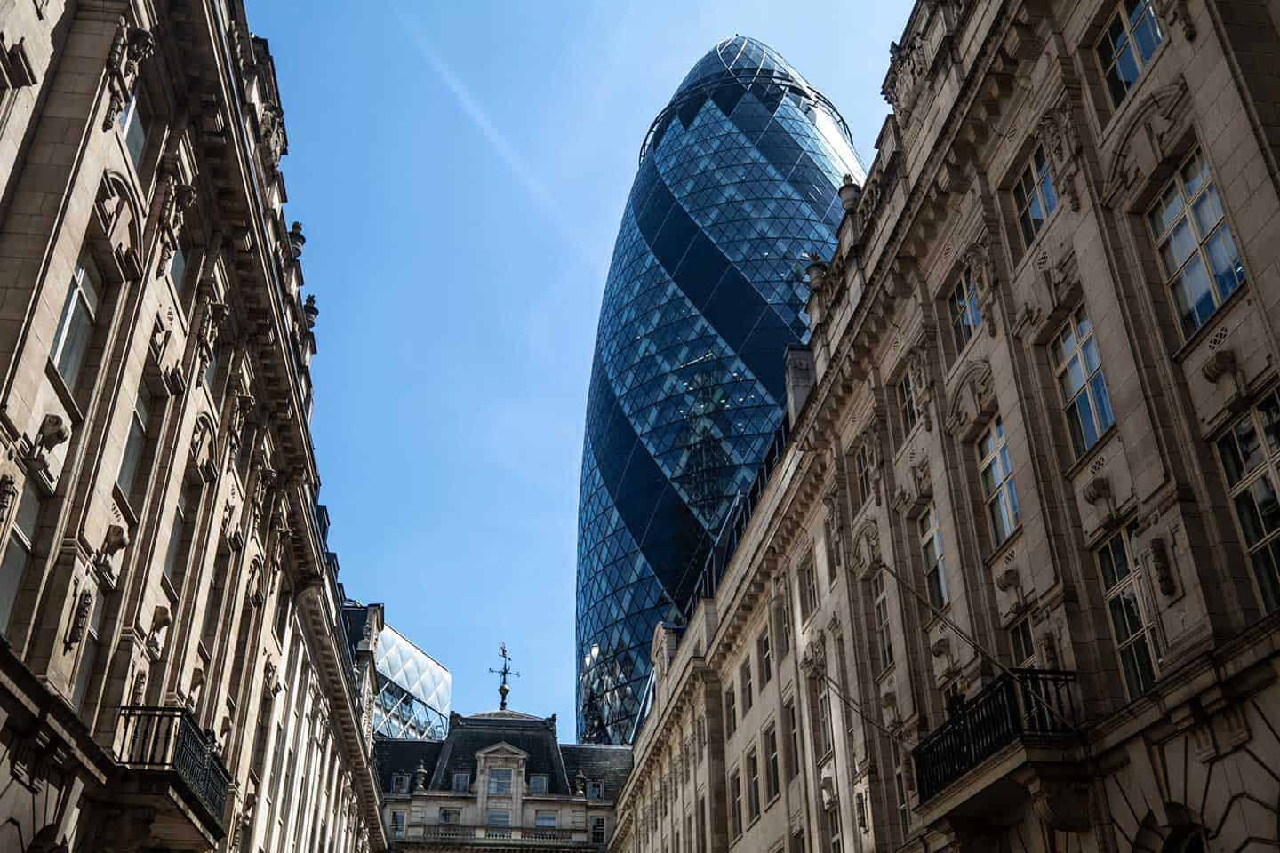 Image of the Gherkin building in London