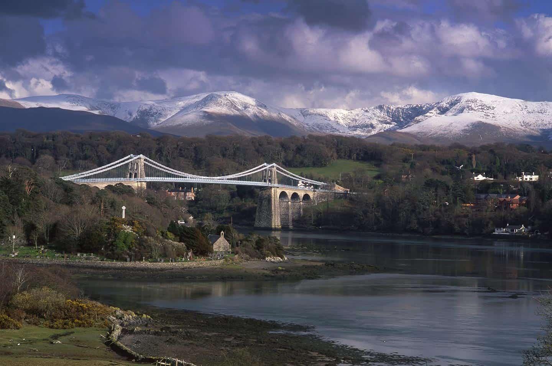Image of the Menai Suspension Bridge, North Wales