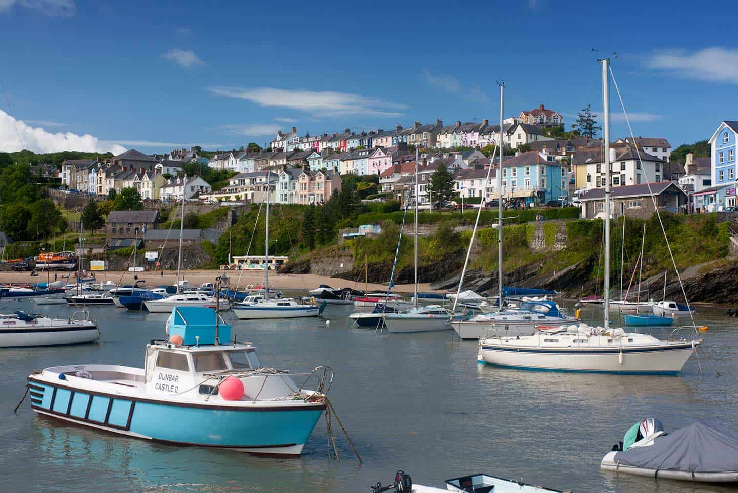 Image of New Quay harbour on the Mid Wales coast