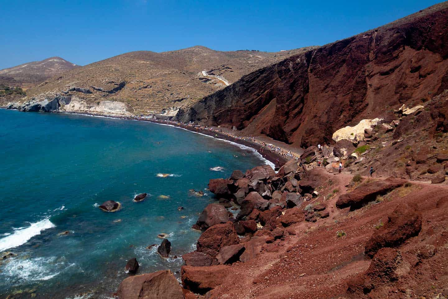 Image of Red Beach, Santorini, Greece