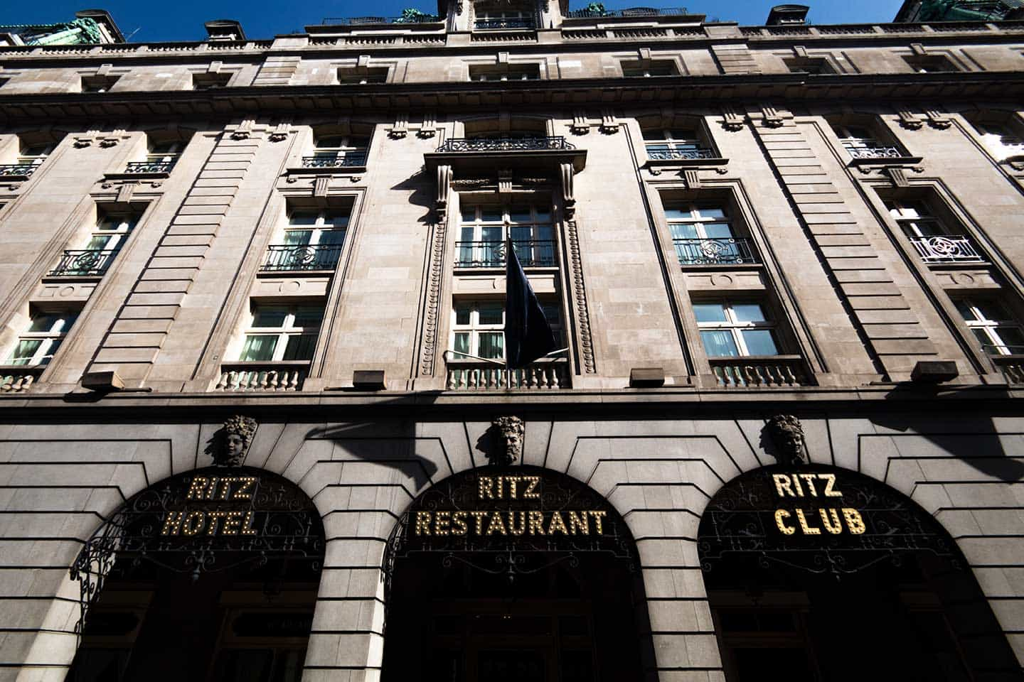 Image of the Ritz Hotel in Piccadilly, London