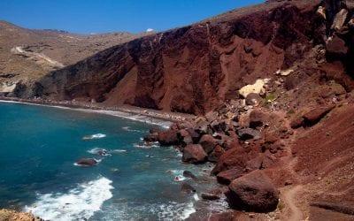 Santorini Red Beach