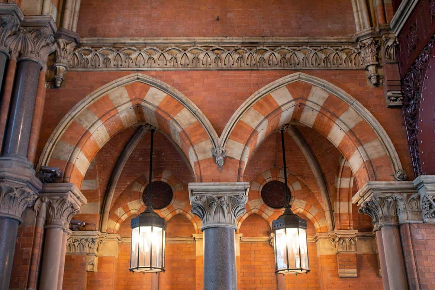 Image of Gothic arches at St Pancras Station London