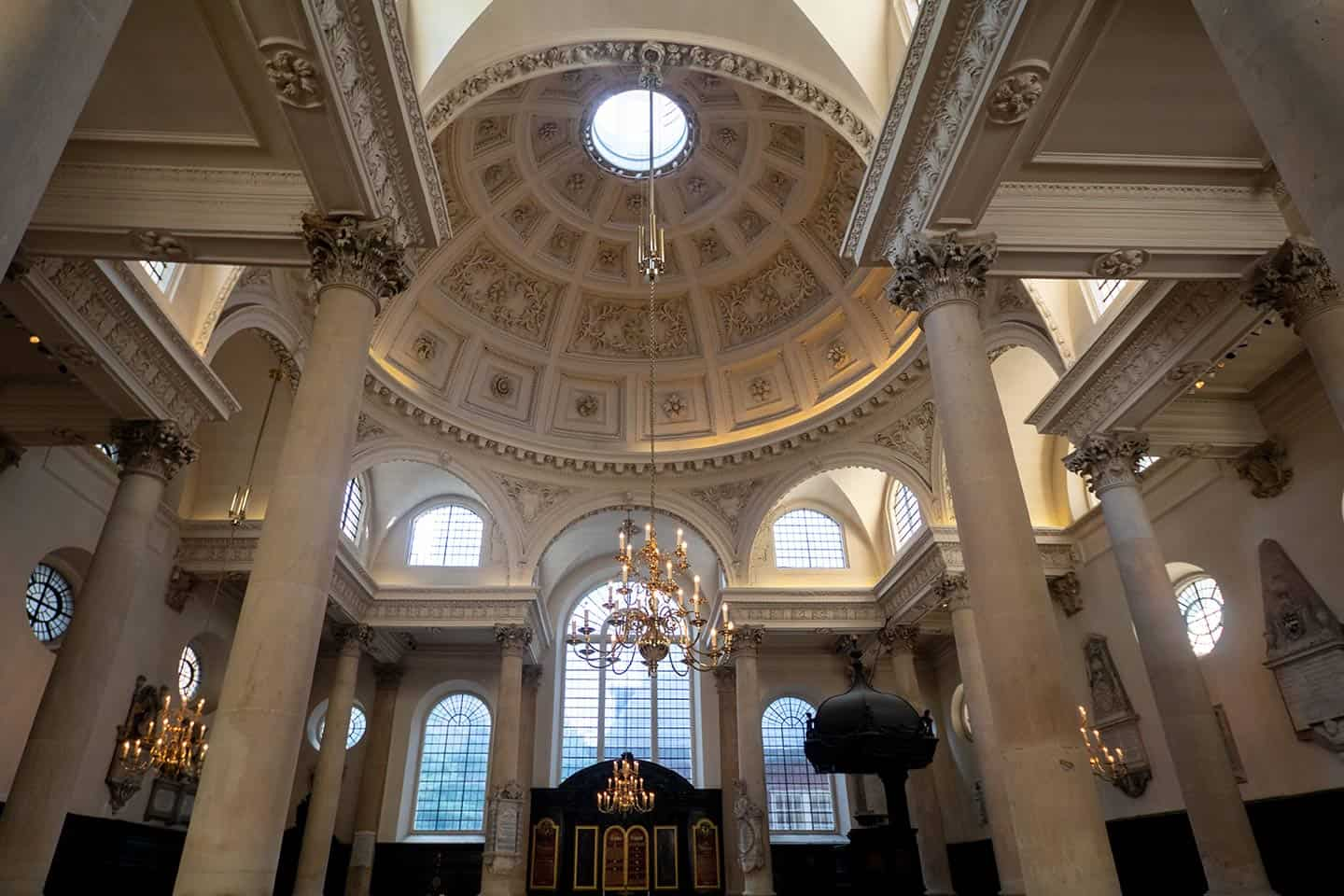 Image of St Stephen Walbrook church in the City of London