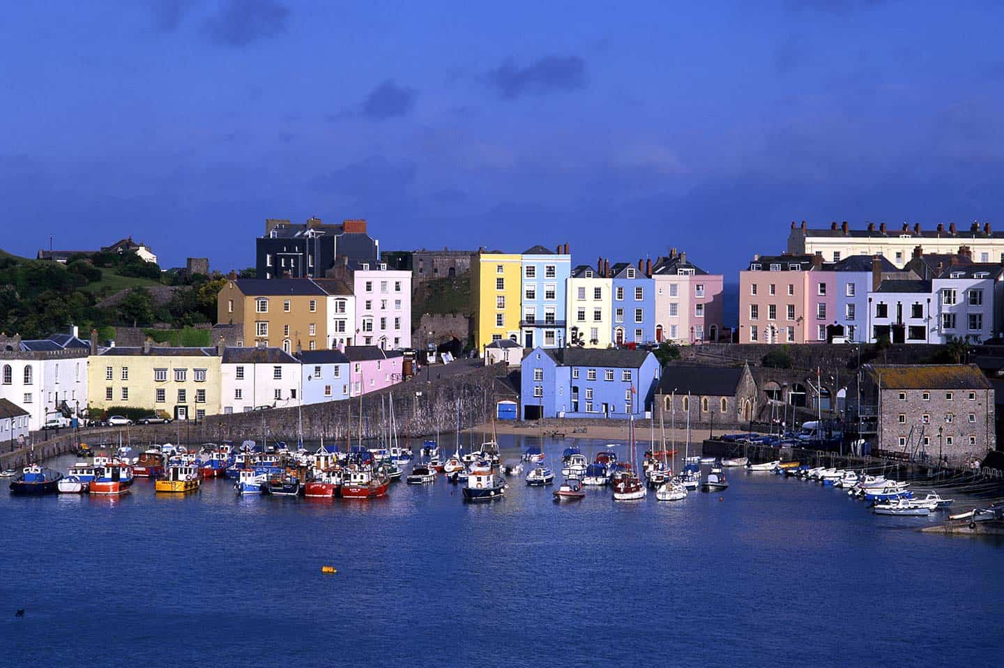 Image of the Harbour in Tenby, Wales