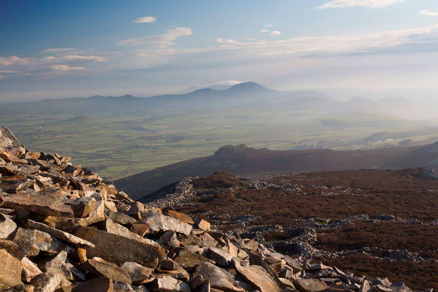 Image of the Tre'r Ceiri Iron Age hillfort in North Wales