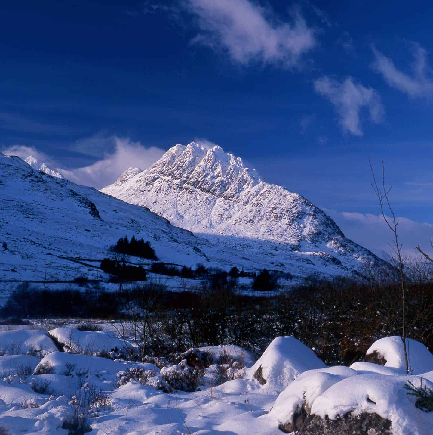 Image of Tryfan a mountain in Snowdonia, North Wales