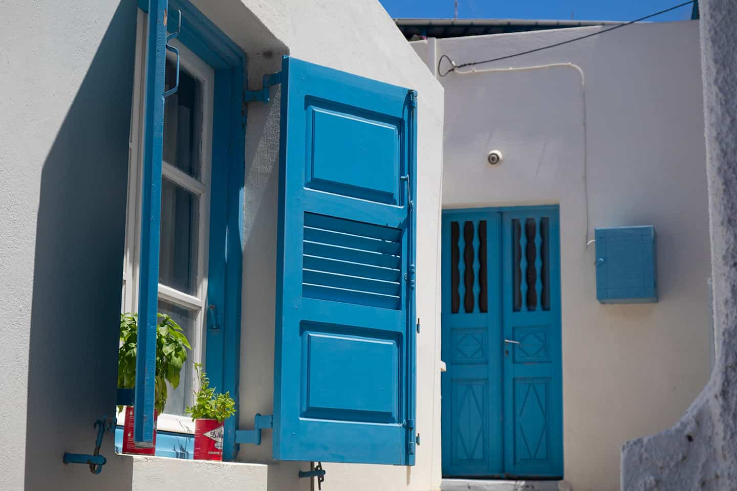 Image of a traditional house in Vlychada village Santorini Greece