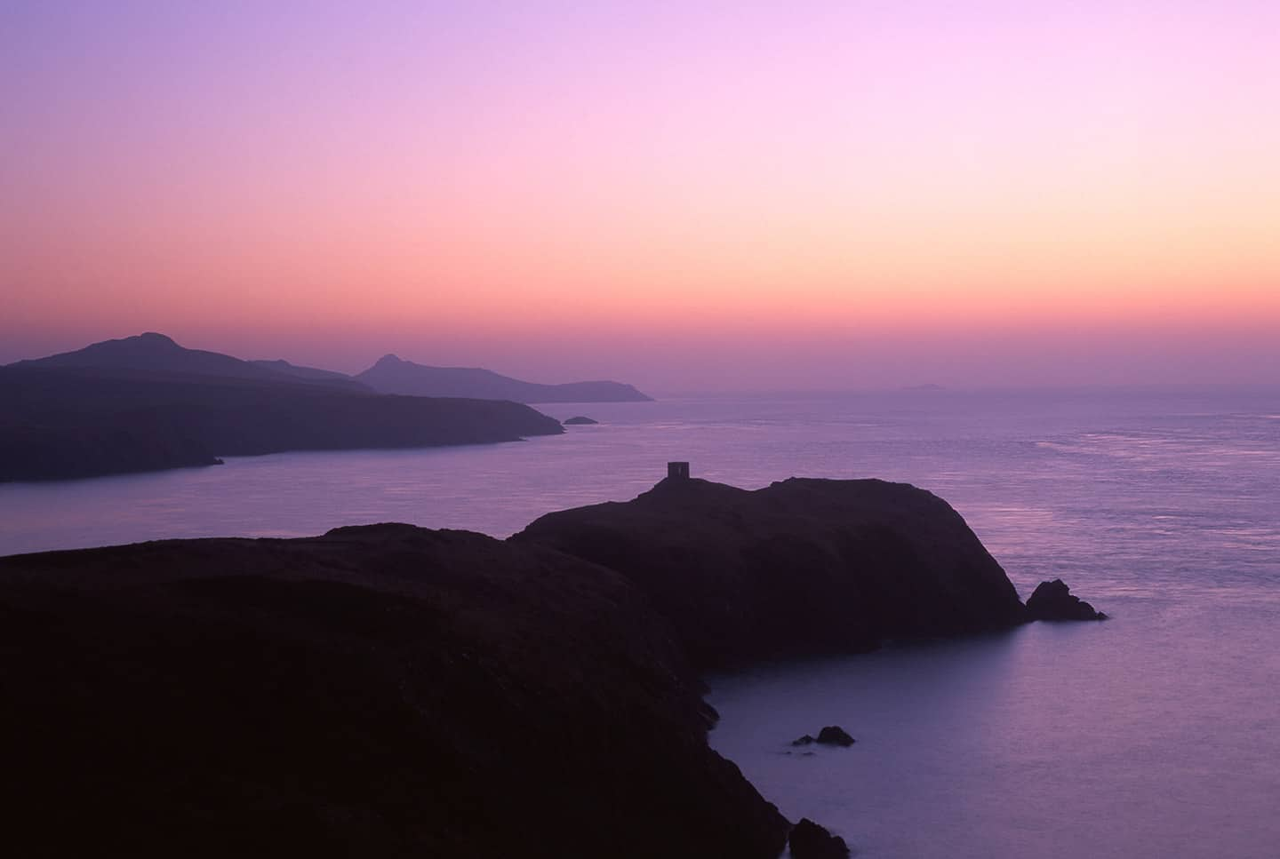 Image of Abereiddi and the Pembrokeshire coast, Wales, UK at sunset