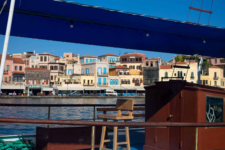 Image of Chania harbour Crete Greece