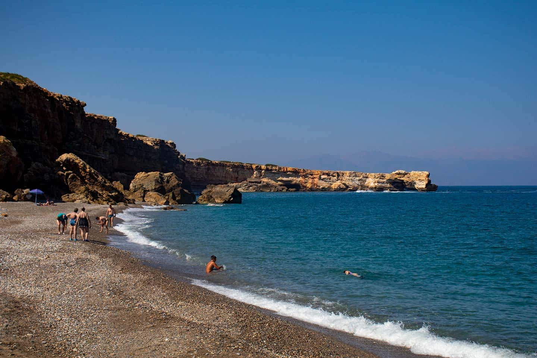 Image of Geropotampos beach crete and the Kamara rock arch