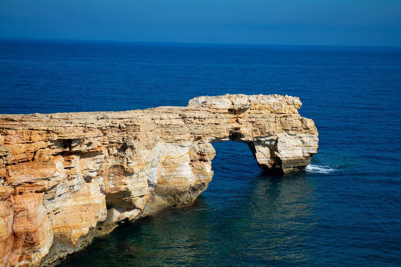 Image of Kamara rock arch at Geropotamos beach Crete