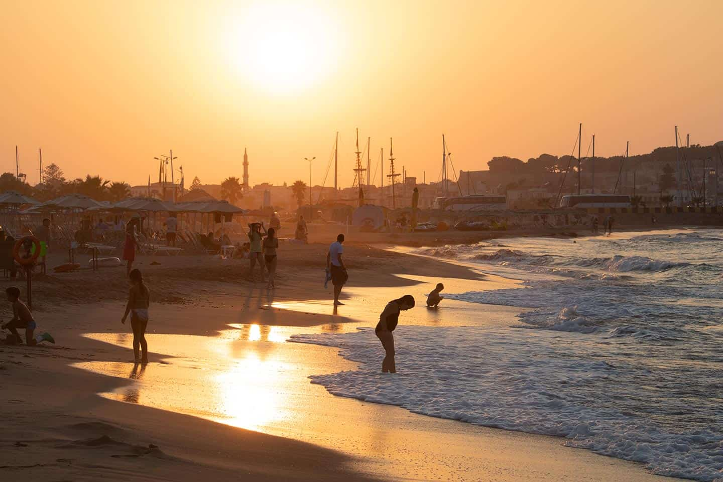 Image of Rethymno Crete Greece at sunset