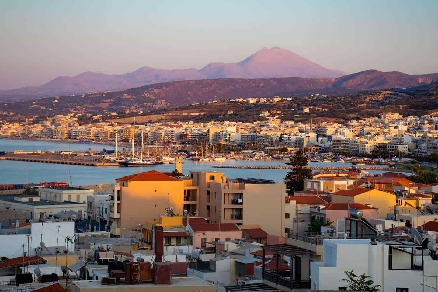 Image of Rethymno city from the Fortezza