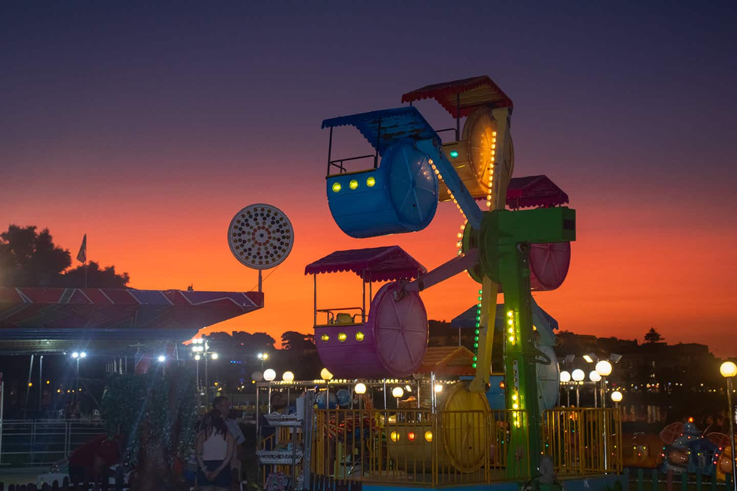 Image of the summer funfair at Rethymno Crete