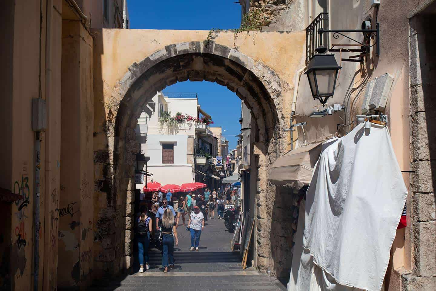 Image of Porta Guora archway in Rethymno old town