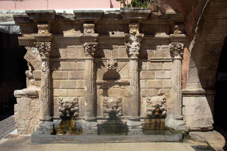 Image of the Rimondi fountain Rethymno Greece