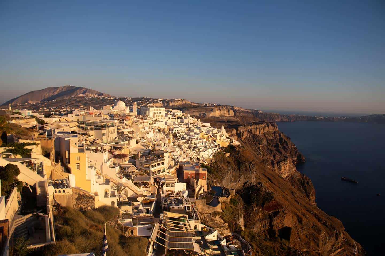 Image of Fira village on Santorini caldera Greece