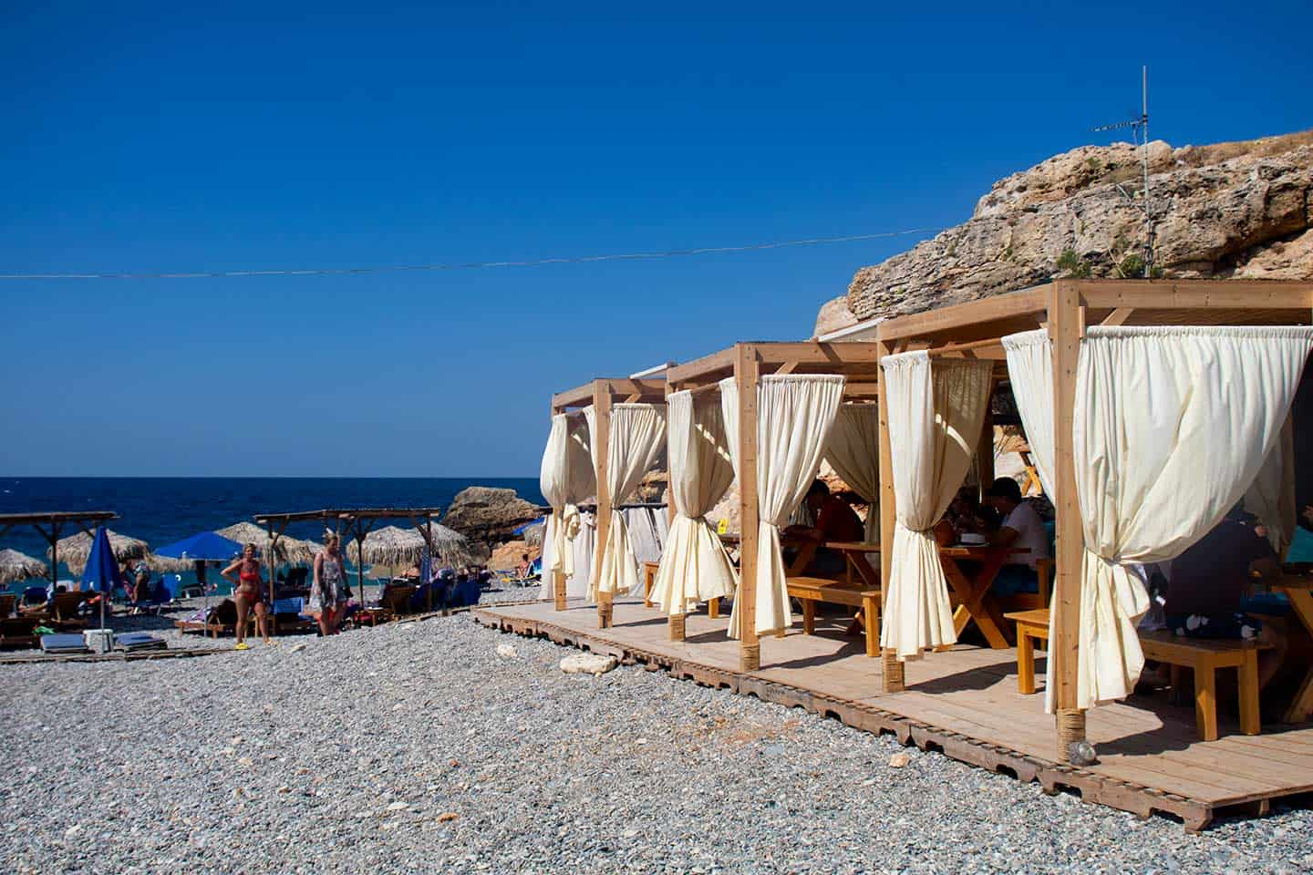 Image of the taverna at Spilies beach