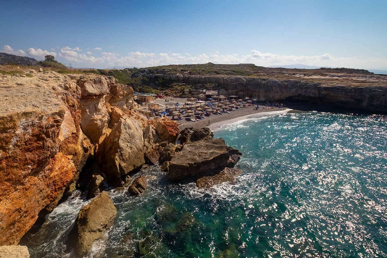Image of Spilies beach near Rethymno Crete Greece