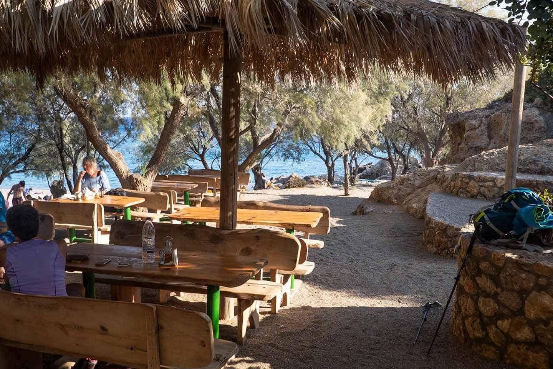 Image of the taverna at Anidri beach Crete