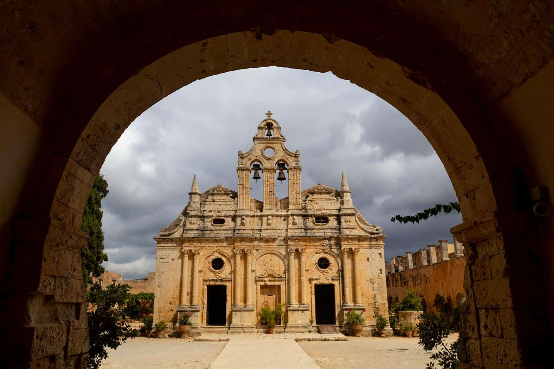 Image of the church at Arkadi Monastery