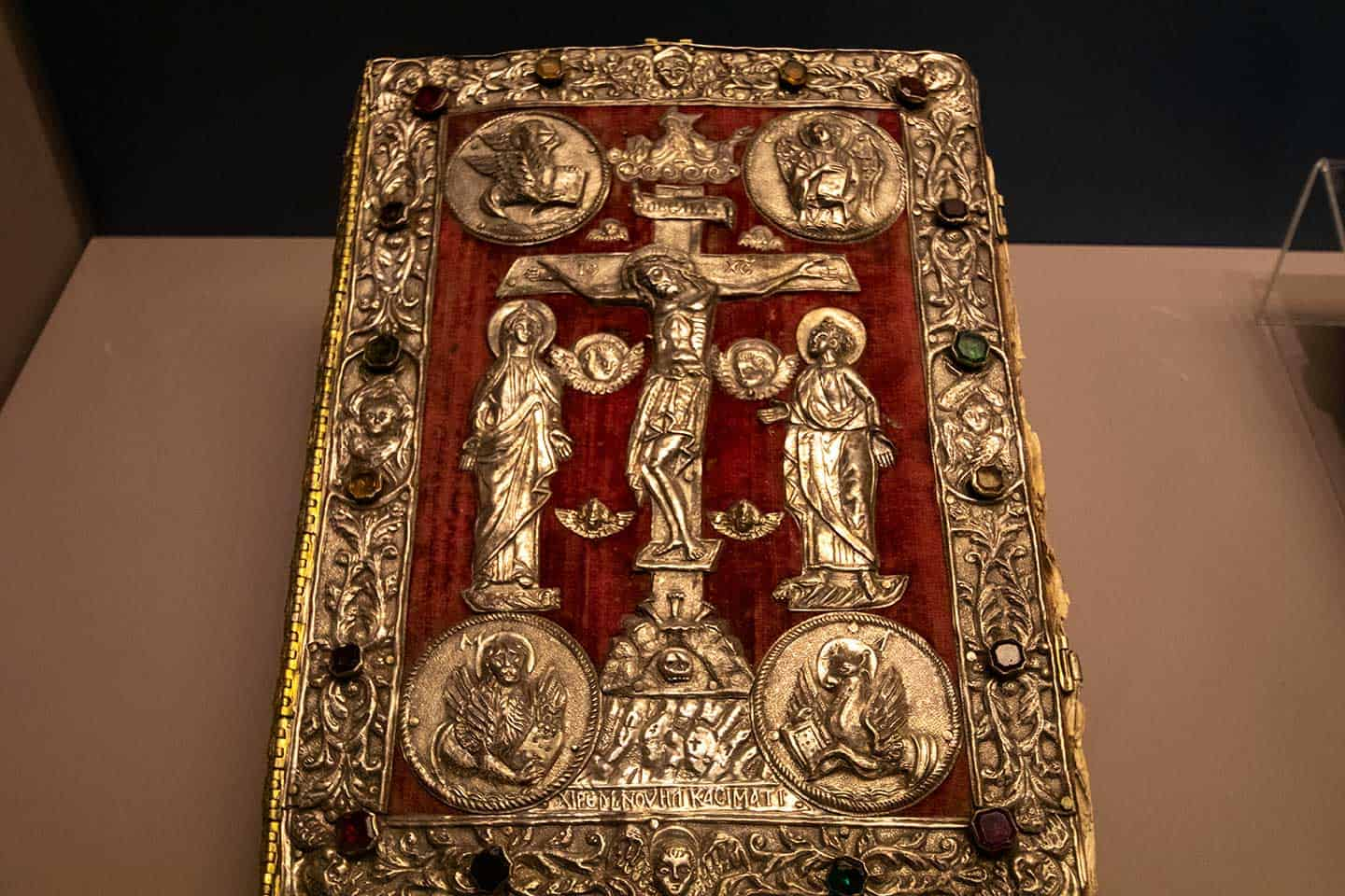 Image of one of the medieval books in the Arkadi monastery museum