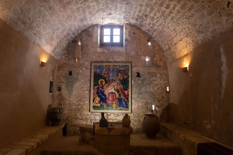 Image of a chapel in Arkadi Monastery Crete