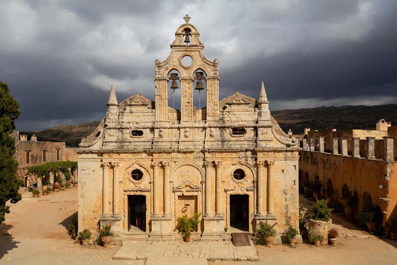 Image of the main church at Arkadi monastery Crete
