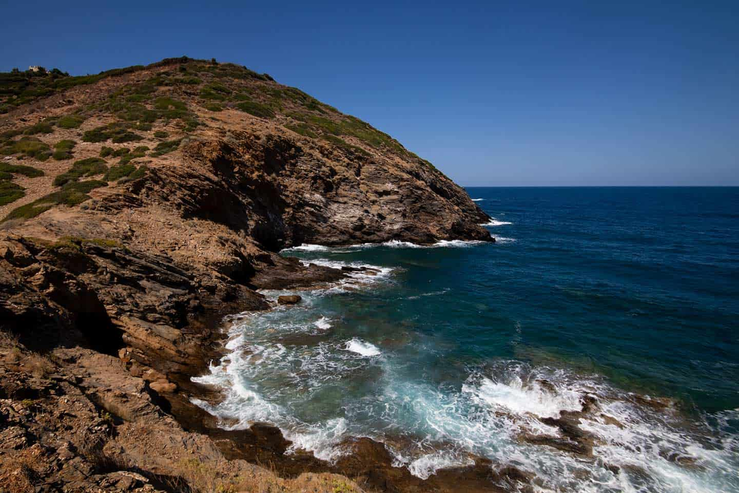 Image of rocky coastline near Bali Crete