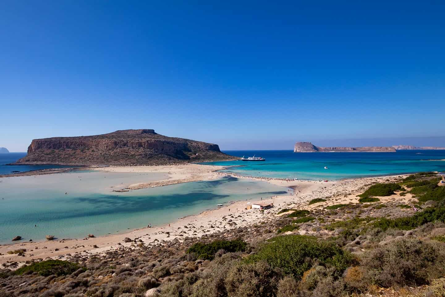 Image of Balos bay from the path down from the car park