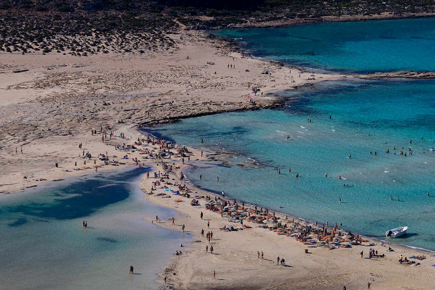 Image of the beach at Balos Chania Crete Greece