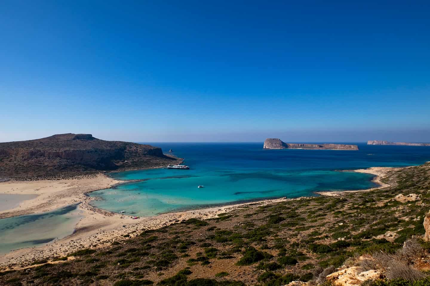 Image of Balos beach and Gramvousa islands Crete Greece