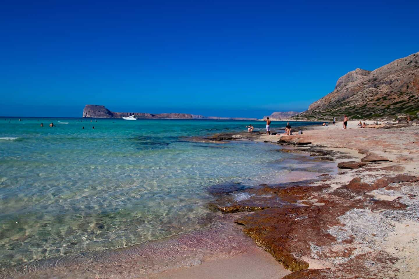 Image of pink sand on Balos Beach Crete