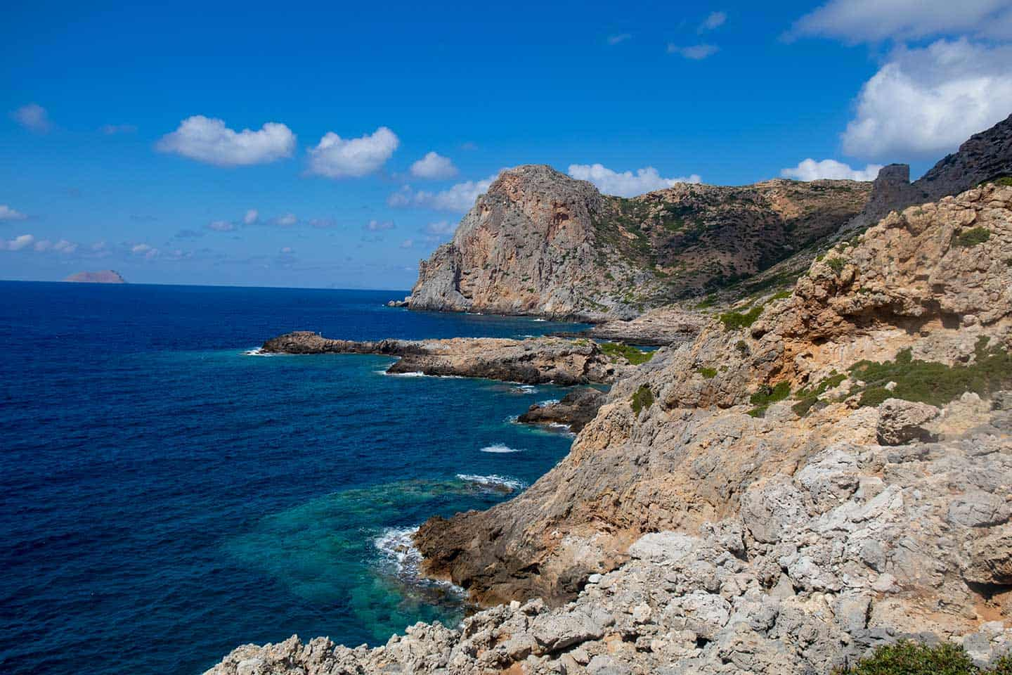 Image of dramatic coastal scenery near Ancient Falassarna