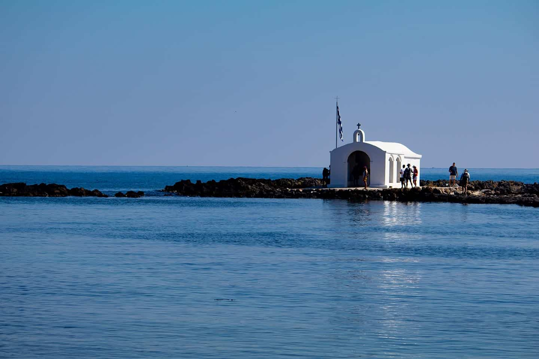 Image of Agios Nikolaos chapel Georgioupolis Crete Greece