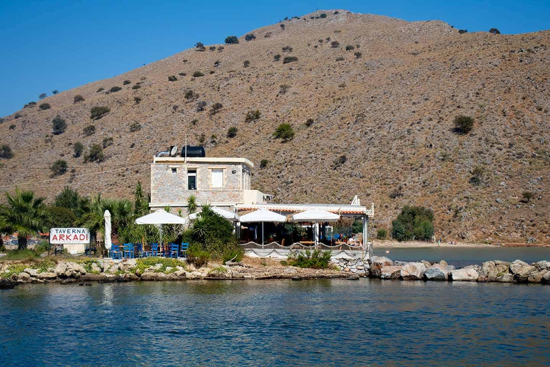 Image of the Arkadi taverna at Georgioupolis