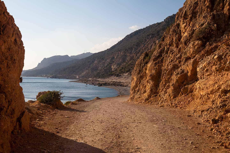 Image of the dramatic road between Paleochora and Gialiskari in Crete