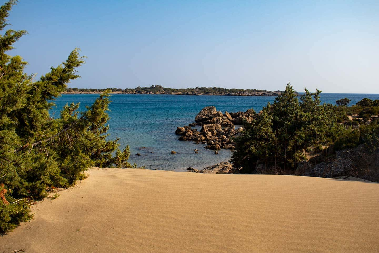 Image of a sand dune at the wild beach in Grammeno in south west Crete