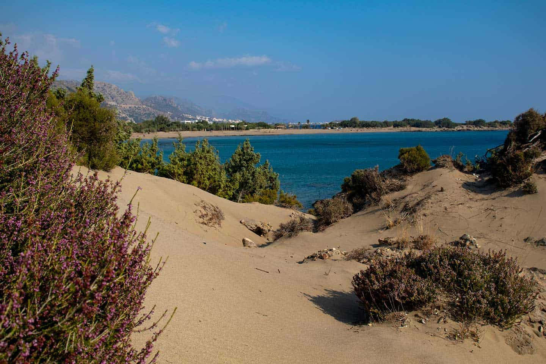 Image of the dunes at Grammeno Wild Beach