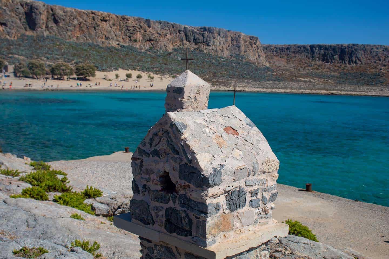 Image of a tiny shrine on Gramvousa Island Crete Greece