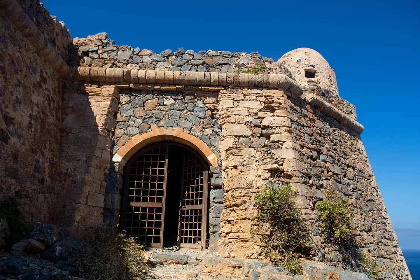 Image of the gatehouse at Gramvousa castle Crete Greece