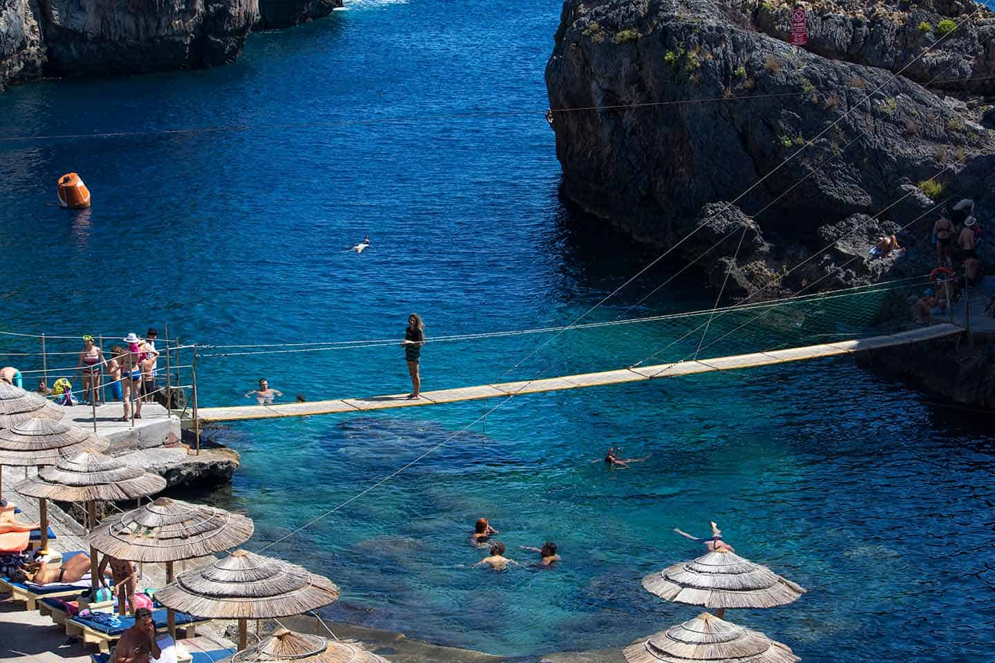 Image of the bridge at Kalypso Beach Crete
