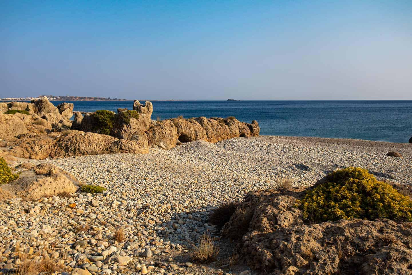 Image of the rock formations at Karavopetra beach Crete