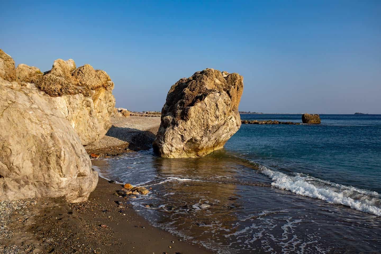 Image of the sea stack at Karavopetra beach Paleochora Crete