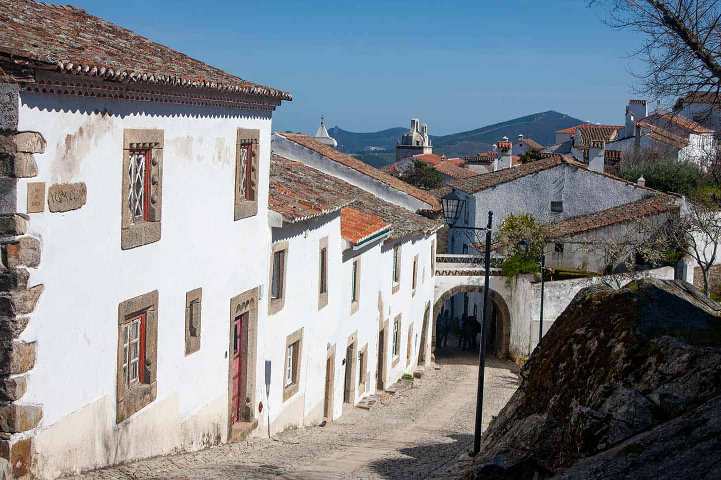 Image of the main street in marvao village Portugal