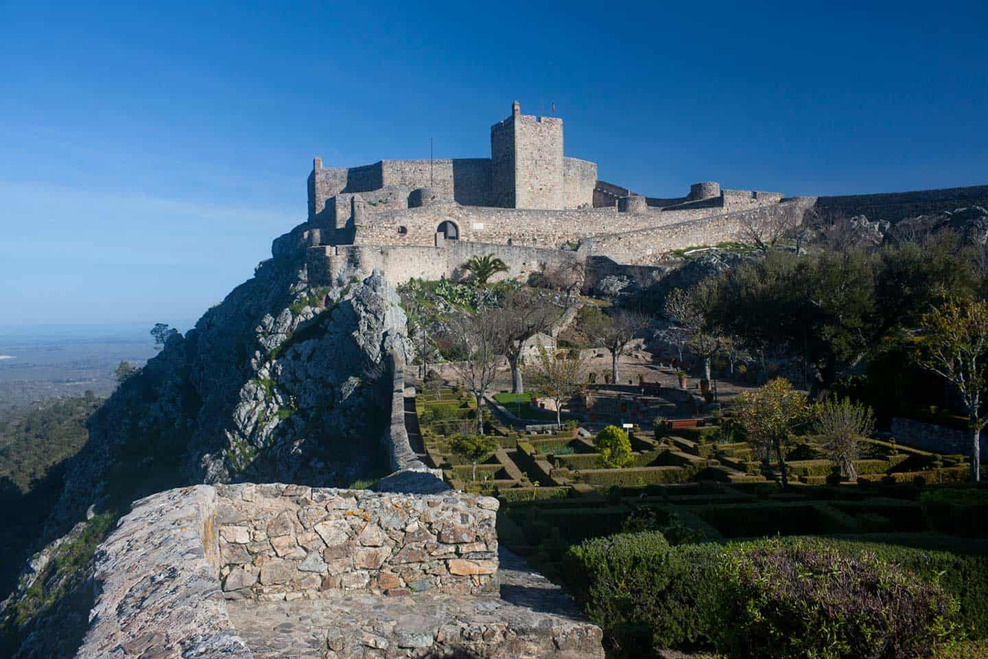 Image of MArvao Castle and gardens below
