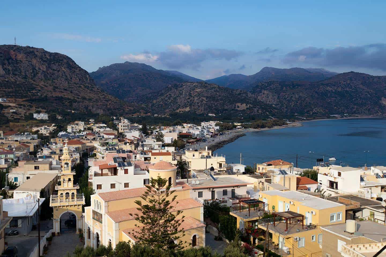 Image of the town of Paleochora Crete