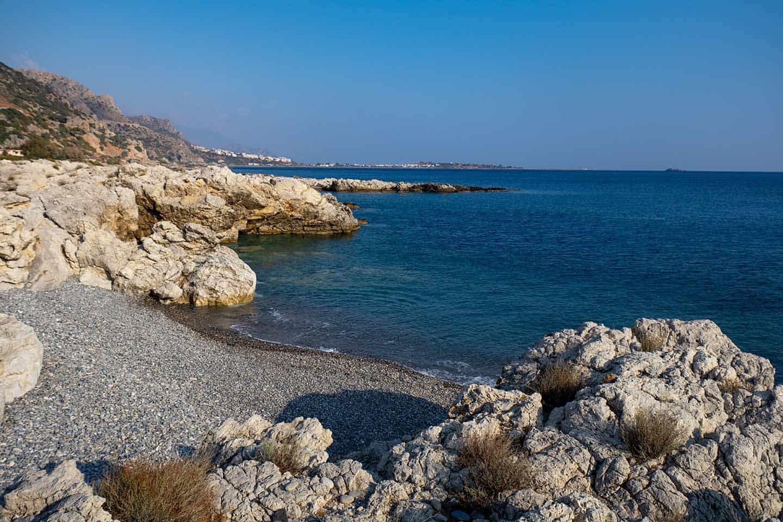 Image of the smaller cove at Plakaki beach Crete